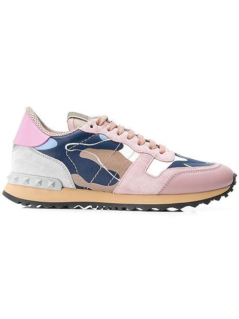 Valentino Mujer RW2S0291TNLSI0 Rosa Cuero Zapatillas: Amazon.es: Zapatos y complementos
