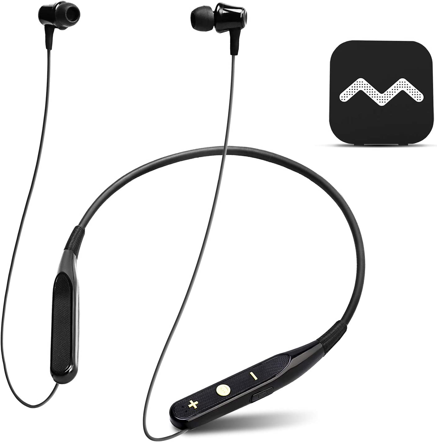 Rechargeable Hearing Aid Amplifier for TV Watching, Wireless Headphones Neckband Pocket Talker for Seniors & Adults, Conversation Enhancing Assist Device with Remote Microphone Noise Cancelling - NW10