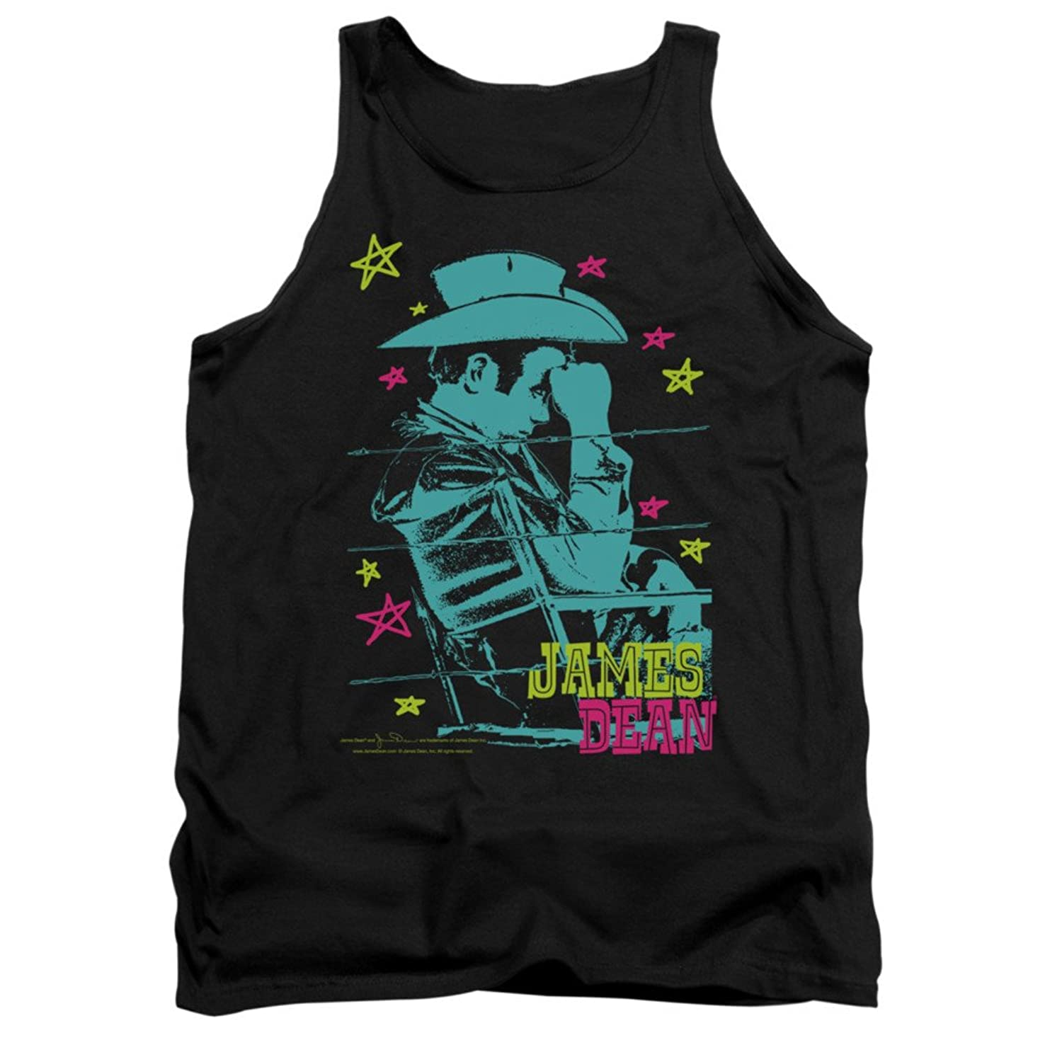 James Dean Icon Movie Actor Barb Wire Cowboy Adult Tank Top Shirt