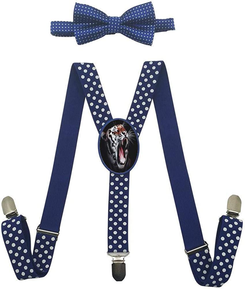 Dark Roaring Tiger Childrens Fashion Adjustable Y-Type Suspension Belt Suit