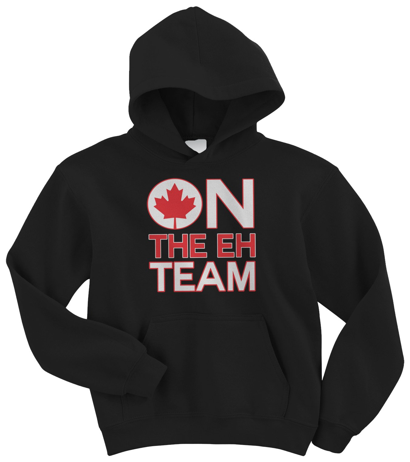 Threadrock Big Boys' On The Eh Team (Canada) Youth Hoodie Sweatshirt
