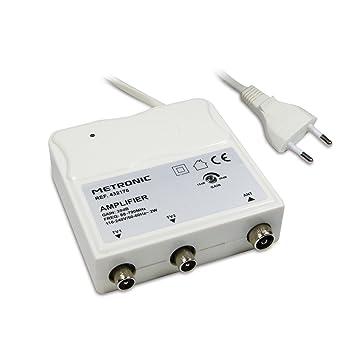 Metronic 432176 - Amplificador (Dolby Digital Plus, NICAM) Color Blanco: Amazon.es: Electrónica