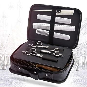 Bolsa de viaje portátil para herramientas de peluquería profesional. Funda de transporte y almacenamiento para maquina de cortar el cabello, peines y tijeras: Amazon.es: Salud y cuidado personal