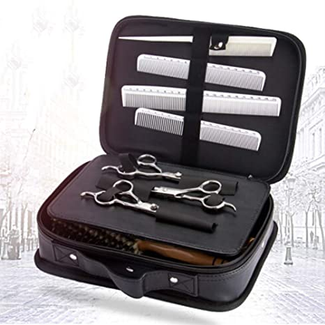 f9d7e81b96c3 Barber Tools Professional Hair Stylist Traveling Case Bag Portable Hair  Salon Styling Clipper Comb Scissors Storage Carrying Case