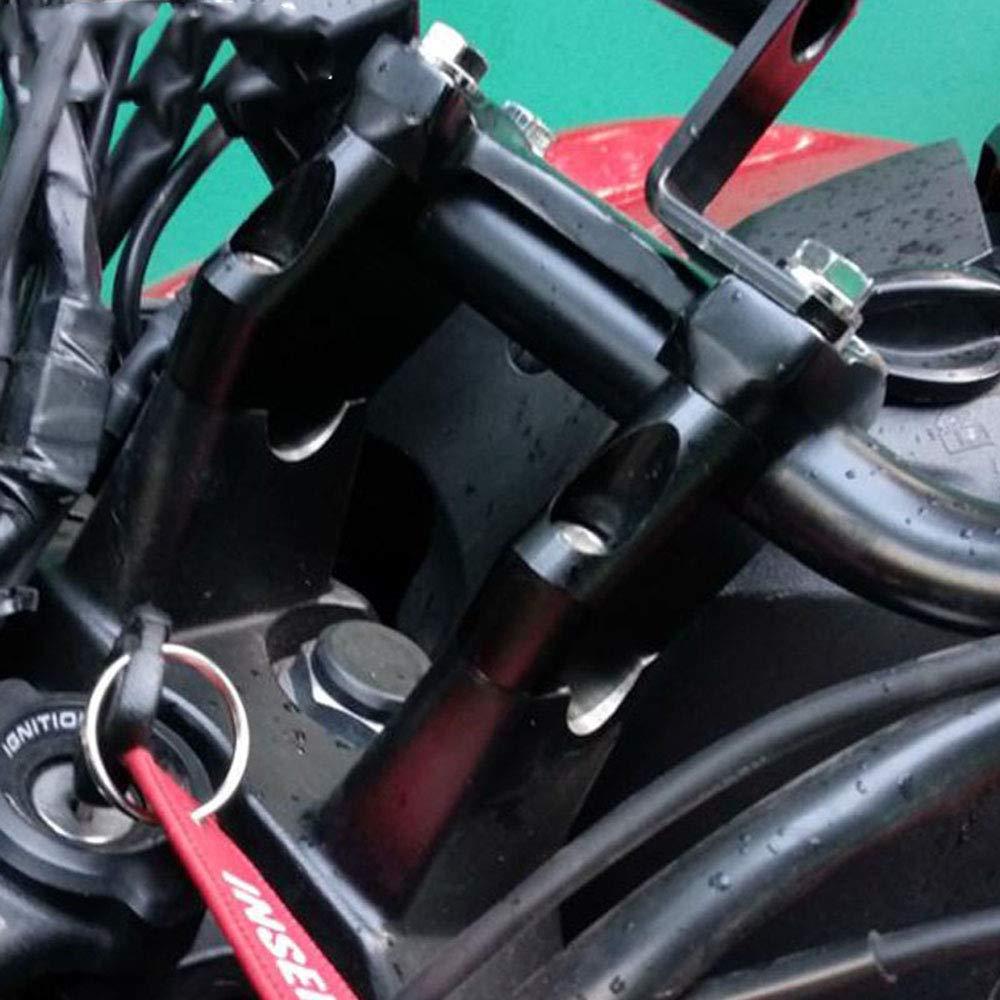 2009 Elevador de Manillar de Motocicleta para Kawasaki Z750 Z750 2004 Fast Pro Color Negro 2011 Z1000 Z1000 2007