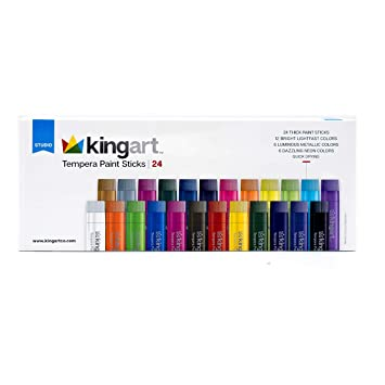 Kingart 575-24 - Juego de 24 palos de pintura templada ...