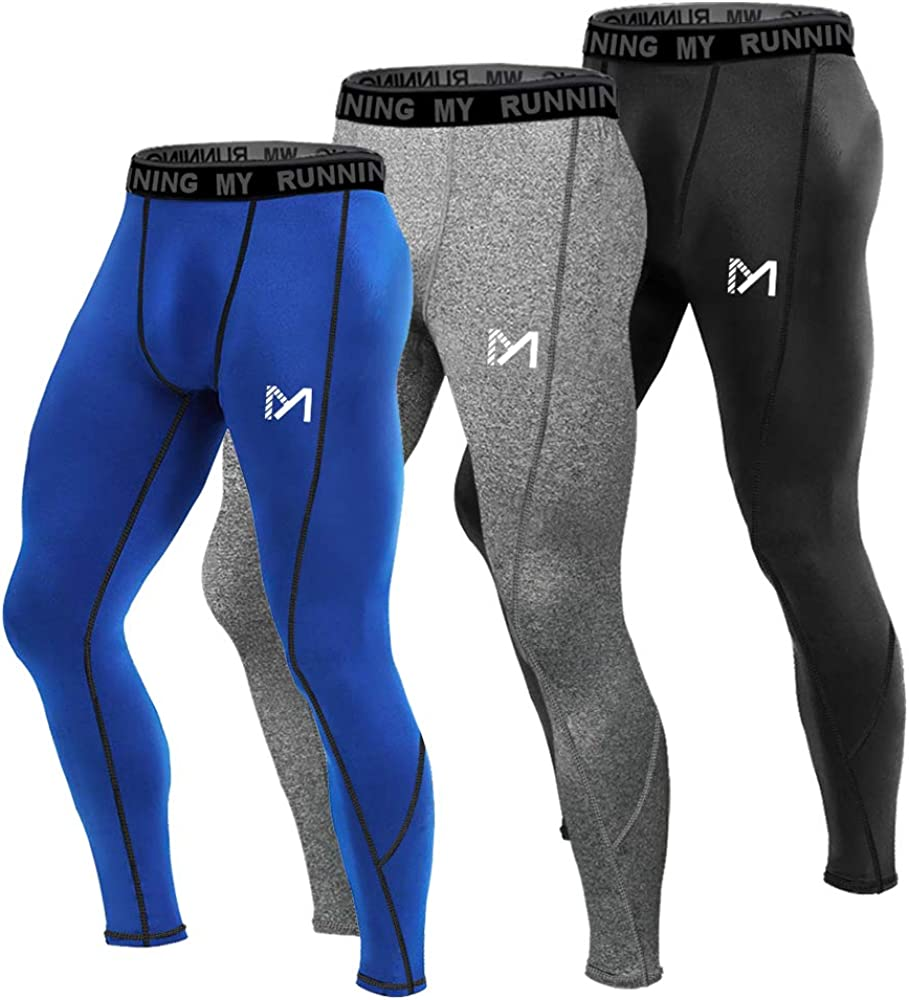 MEETYOO Mens 3//4 Compression Pants Leggings Tights Cool Dry Sport Workout HeatGear Capri Base Layer Running Cycling