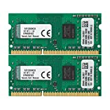 Kingston ValueRAM 8GB Kit (2x4GB) 1333MHz DDR3 Non - ECC CL9 SODIMM SR x8 Notebook Memory KVR13S9S8K2/8