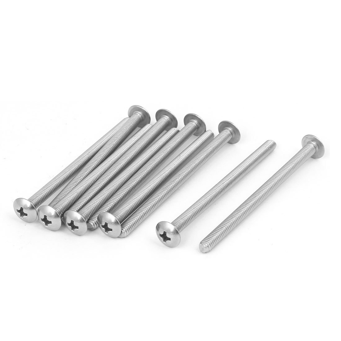 uxcell M4x60mm 316 Stainless Steel Truss Phillips Head Machine Screw Silver Tone 10pcs