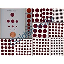 Velvet Bindi Tattoo Stickers 9 Cards of different sized Polka Dot Maroon Red Adhesive Body Jewelry (P16)