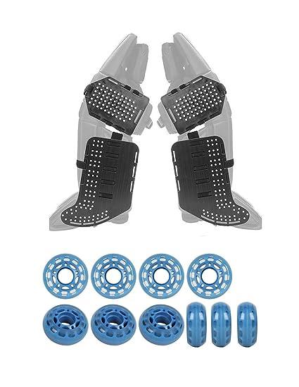 Amazon Com Rollerfly Black Slide Plates Clear Blue Indoor Goalie