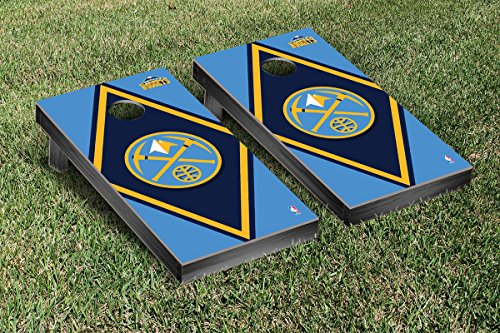 Denver Den Nuggets NBA Basketball Cornhole Game Set Diamond Version by Victory Tailgate