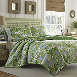 Tommy Bahama Aregada Dock Sky Quilt Set, King, Sky