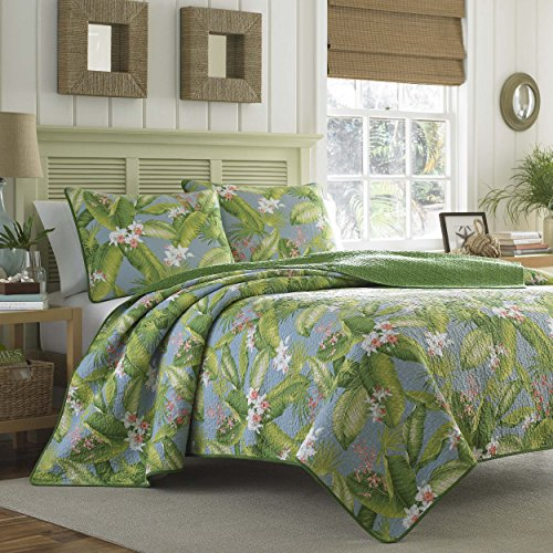 Tommy Bahama Aregada Dock Quilt Set, King, Sky (Bedding Tommy Sets)