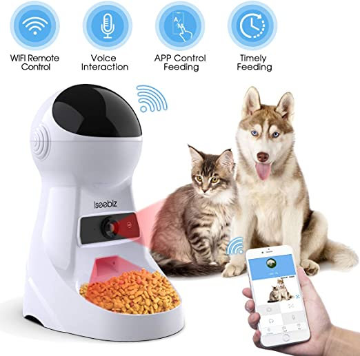 Iseebiz alimentador automático para Gatos, 3,5 l, dispensador de ...