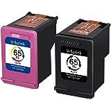 V-Surink Remanufactured Ink Cartridges for Hp 65 65XL Compatible with Envy 5010 5020 5055 5052 Deskjet 3755 2655 3720 3722 37