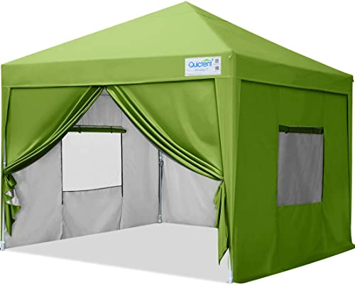 Quictent Privacy 10×10 Ez Pop up Canopy Tent Enclosed Instant Canopy Shelter