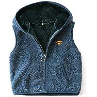 FEOYA Chaleco de forro polar con capucha para niños, chaleco sin mangas, chaleco para niños y niñas, transpirable, ropa…