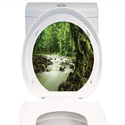 Enjoyable Amazon Com Qianhe Home Toilet Seat Wall Stickers Paper Caraccident5 Cool Chair Designs And Ideas Caraccident5Info
