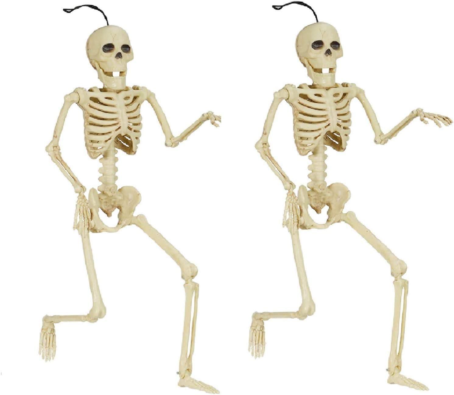 Halloween Skeleton Set Skull Full Body Halloween Skeleton, Funny Hipster Skull Skeleton Decoration Bone Décor, 2 Sets of Body Accessories for Best Halloween Decoration