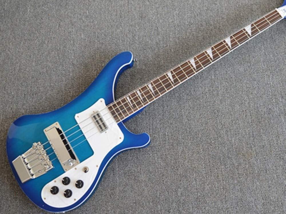 Guitarra eléctrica de bajo (4 cuerdas), color azul: Amazon.es ...