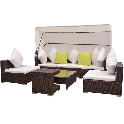 Amazonde Festnight 23 Pcs Gartenmöbel Rattan Set Sofa Außen Mit