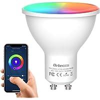 Orbecco Smart WLAN LED-lamp, GU10 wifi-gloeilamp 5 W, 2700 K-6500 K, dimbaar, 400 lm, meerkleurig, RGB+wit/warm licht…