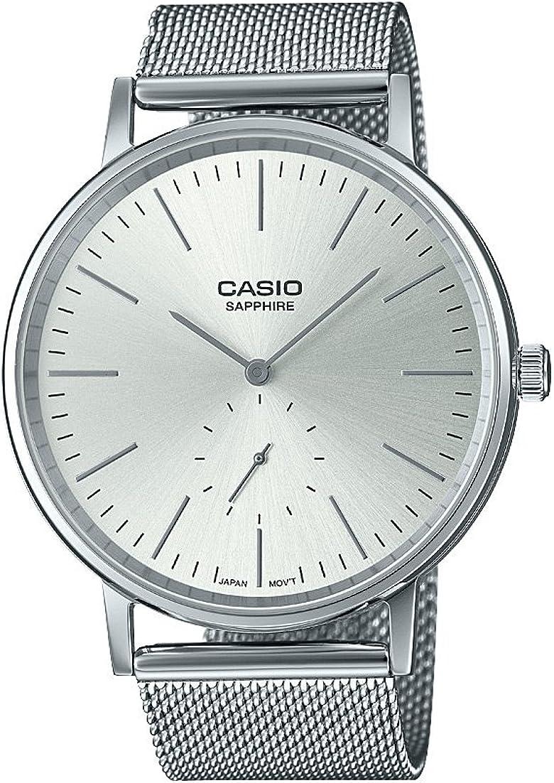 Casio Reloj Analógico para Hombre de Cuarzo con Correa en Acero Inoxidable LTP-E148M-7AEF
