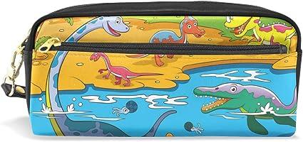 Estuche escolar de cocodrilo con diseño de dinosaurios de dibujos animados para niños, gran capacidad, para maquillaje, cosméticos, oficina, viajes, bolsa: Amazon.es: Oficina y papelería
