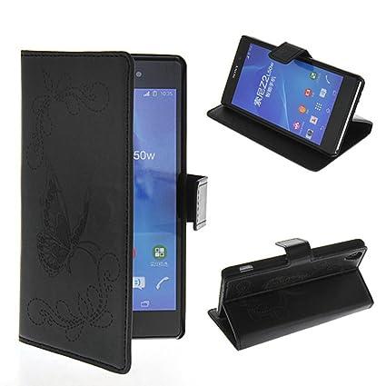 Amazon.com: Sony Xperia Z2 Case,COOLKE [Black] BLACK ...