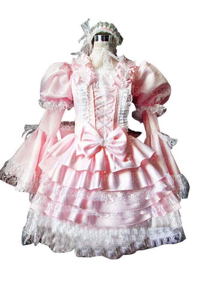 Mtxc Women's Sweet Love Lolita Cosplay Costume Spring style Size X-Large Pink