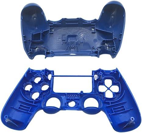 Hzjundasi Carcasa de Reemplazo funda protectora Parte superior e inferior para Playstation 4 Pro PS4 Pro controlador Dualshock 4 (Azul): Amazon.es: Videojuegos