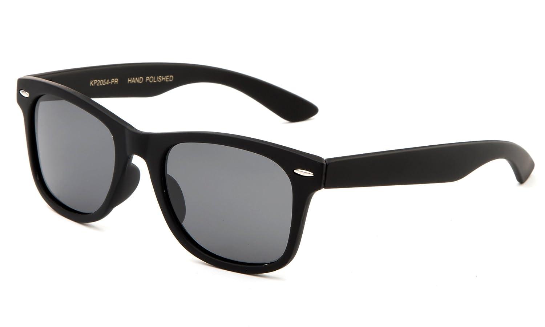 Kids Toddler Baby 80's Classic Vintage Retro Style Polarized Fashion Sunglasses (1-6 Years) Newbee Fashion KP2054PR-BK&BL-2PK_P