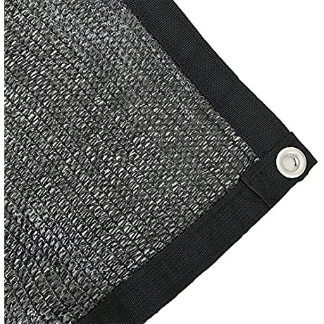 Shatex 70 Sunblock Shade Cloth With Grommets 10x12ft Black For Plant Cover Greenhouse Barn Kennel Pool Pergola Or Carport