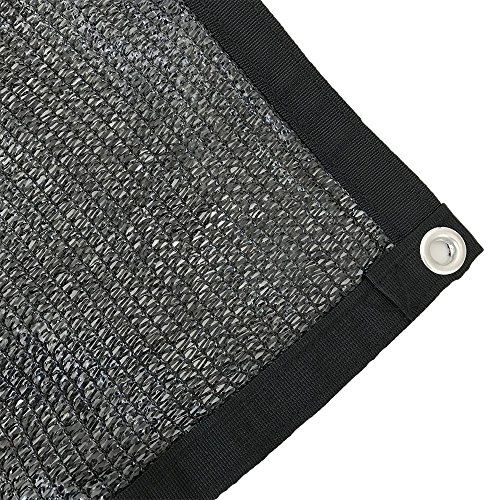 Shatex 70% Sunblock Shade Cloth With Grommets 12x20ft Black for Plant Cover Greenhouse,Barn,Kennel, Pool, Pergola or Carport