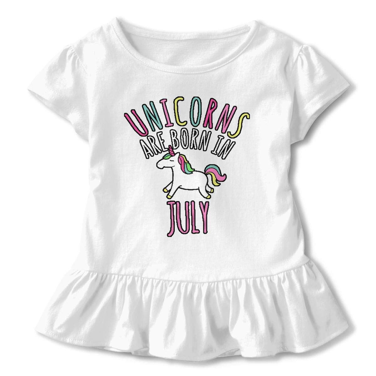 July Unicorns Baby Skirts Lovely Kids T Shirt Dress Cotton Flounces Costume