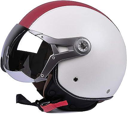 Amazon.es: BESHU Casco de piloto, estilo retro, para motociclista, scooter, casco de Vespa, casco jet vintage, para moto, ciclomotor, crucero, certificado ECE · incluye visera solar