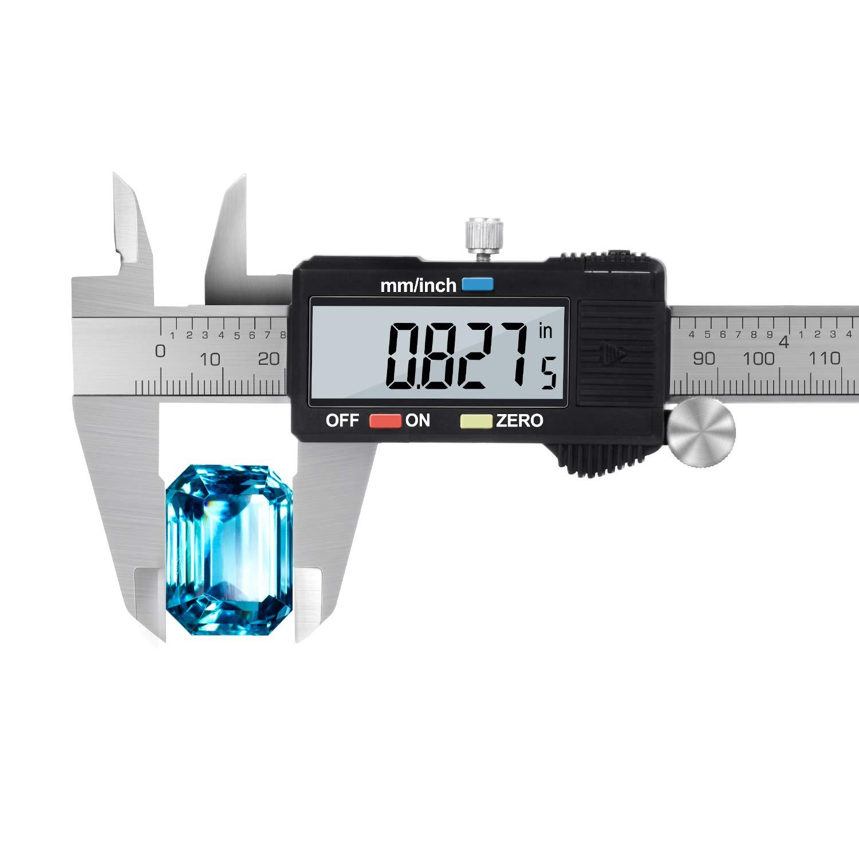 Pied à Coulisse Numérique Adoric - Vernier Calibre de 150mm Précision Digital en Acier Inoxydable avec Ecran d'affichage LCD WIN-EU