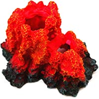 YaptheS Volcán Acuario Resina volcán Submarino Ornamento Paisaje de la decoración Arte de la Resina del