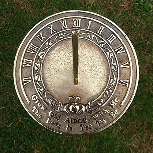ANTIQUECOLLECTION Grow Old Along with Me Sundial Gift
