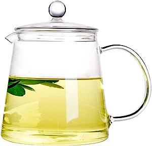 Xiazhi Glass Teapots Glass Teakettles Stovetop Safe 1100ml Teapots