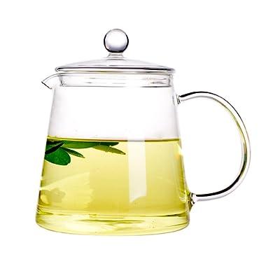 Xiazhi High Borosilicate Glass Teapot ,Glass Teakettles Stovetop Safe 1100ml