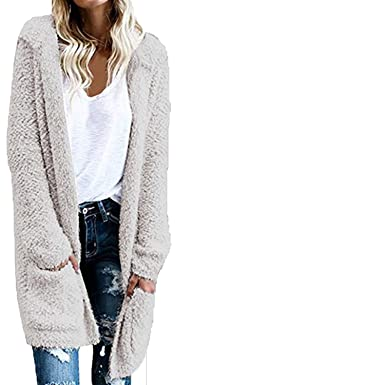 8457d8ea7 Amazon.com  New Women s Fashion Sweater Winter Warm Hooded Long ...