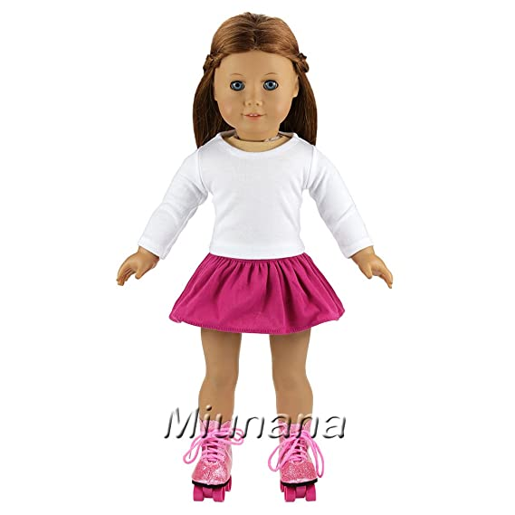 Amazon.es: Miunana 2X Vestidos + 2 Pares Patines Accesorios como ...