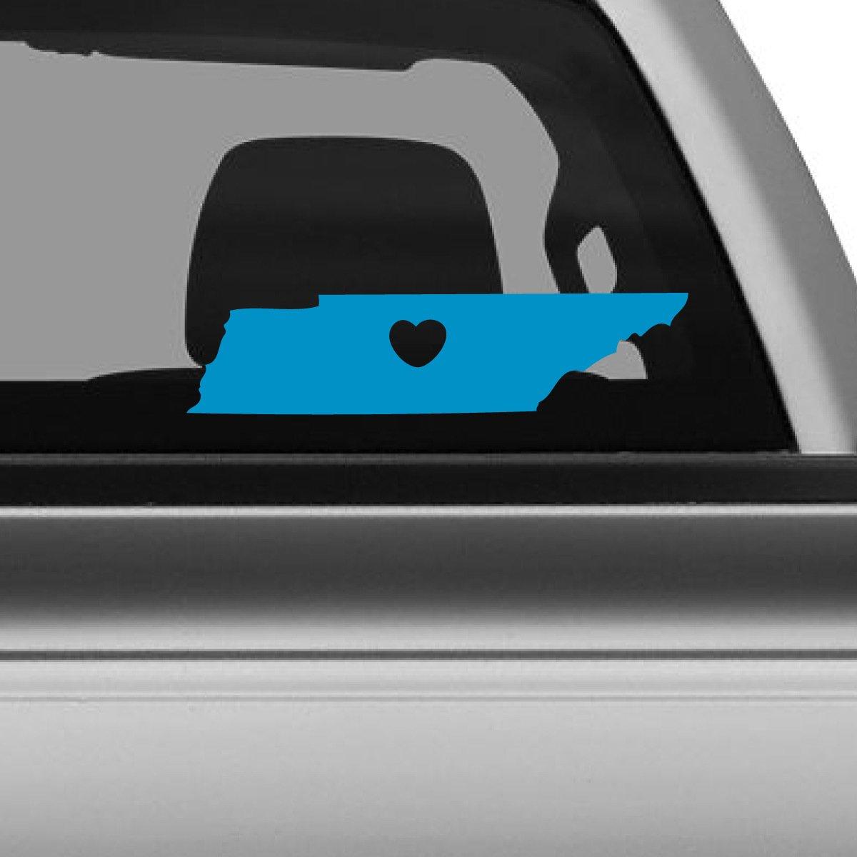 ずっと気になってた I Love W Tennessee車デカール、Die Cut Vinyl Decal I for Windows車 グレー、トラック、ツールボックス、ノートパソコン、ほぼすべてmacbook-ハード、滑らかな表面 6
