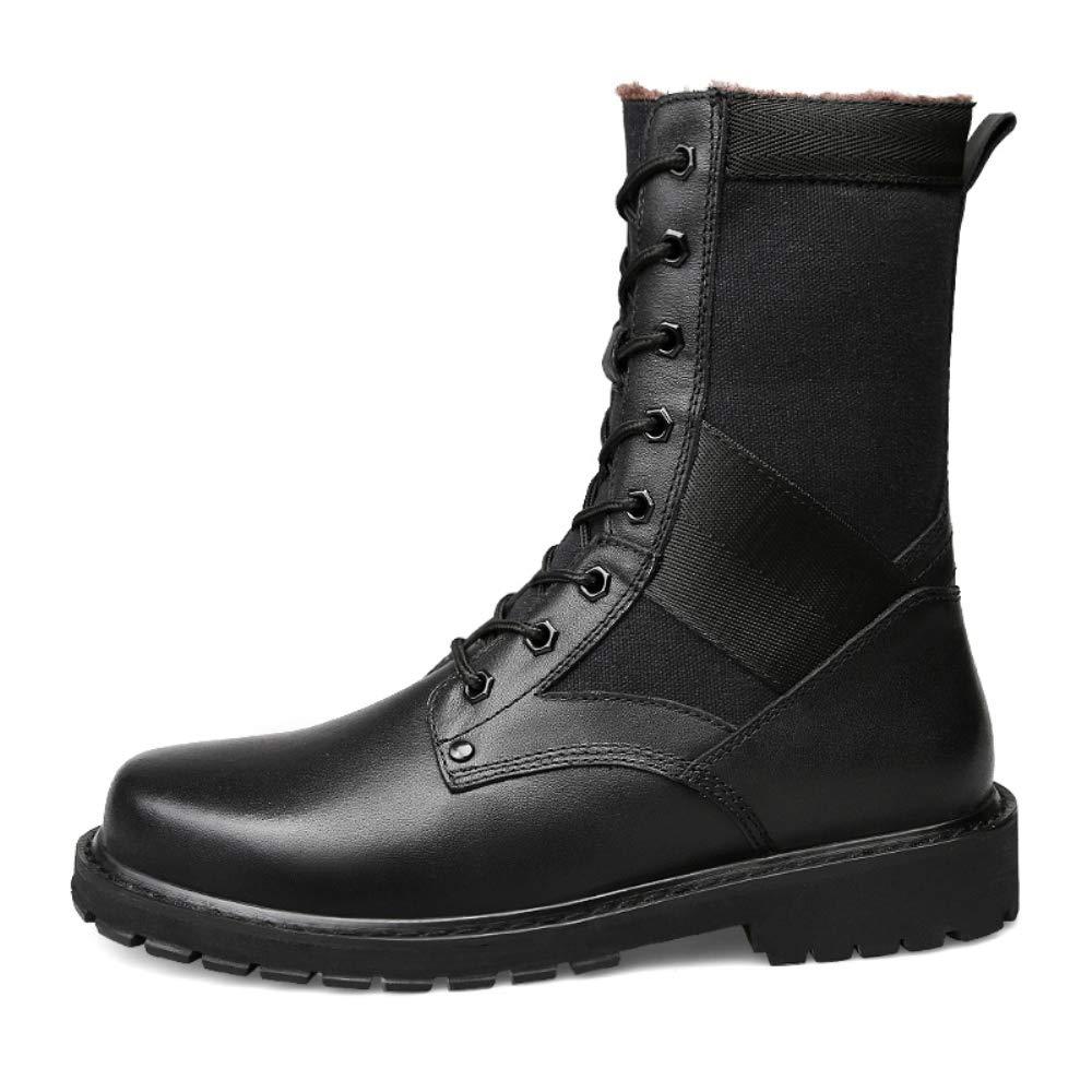 Shoe House Stivali da Neve in Pelle Pelle Pelle Confortevole Combattimento Equitazione Sicurezza Stivali Lavoro,EU38 US6(M) UK5 bde980