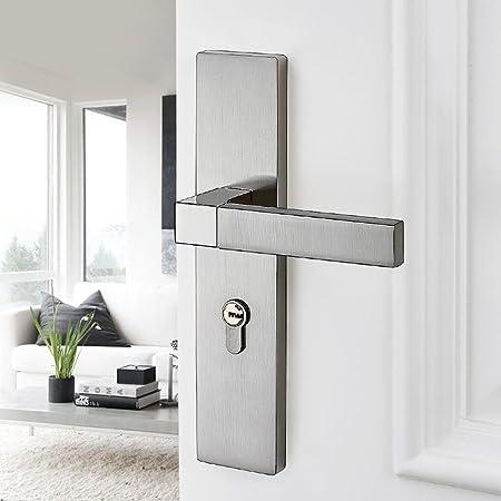 Daeou Door Lock Interior Bedroom Lock Silent Solid Wood Zinc Alloy