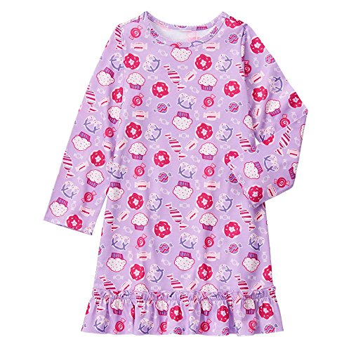 Gymboree Big Girls' Sweet Treats Nightgown, Multi, L