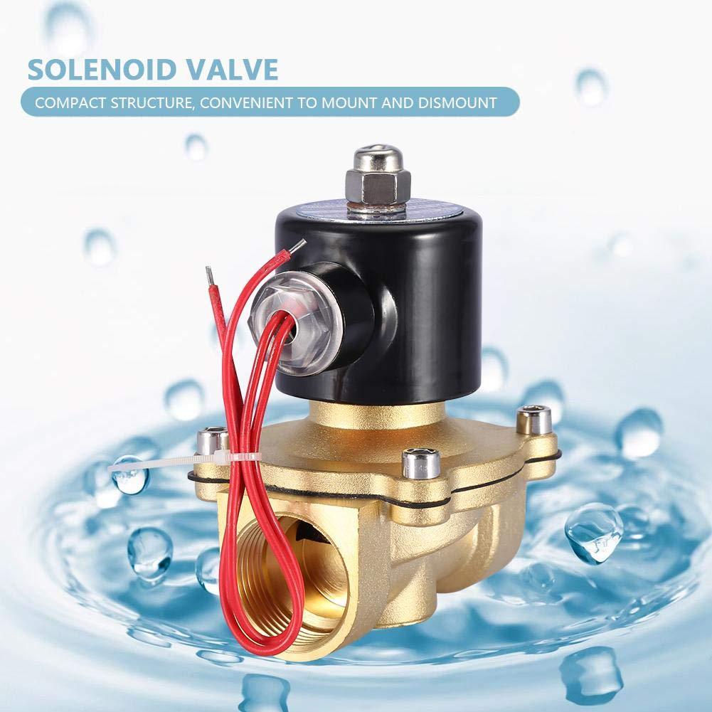 V/álvula solenoide NC DN25 220V CA 1IP65 V/álvula electromagn/ética el/éctrica de lat/ón de dos v/ías V/álvula electromagn/ética para combustibles de gas de aire y agua