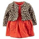 Carter's Baby Girls' 2 Piece Floral Dress Set Leopard/Orange-3M